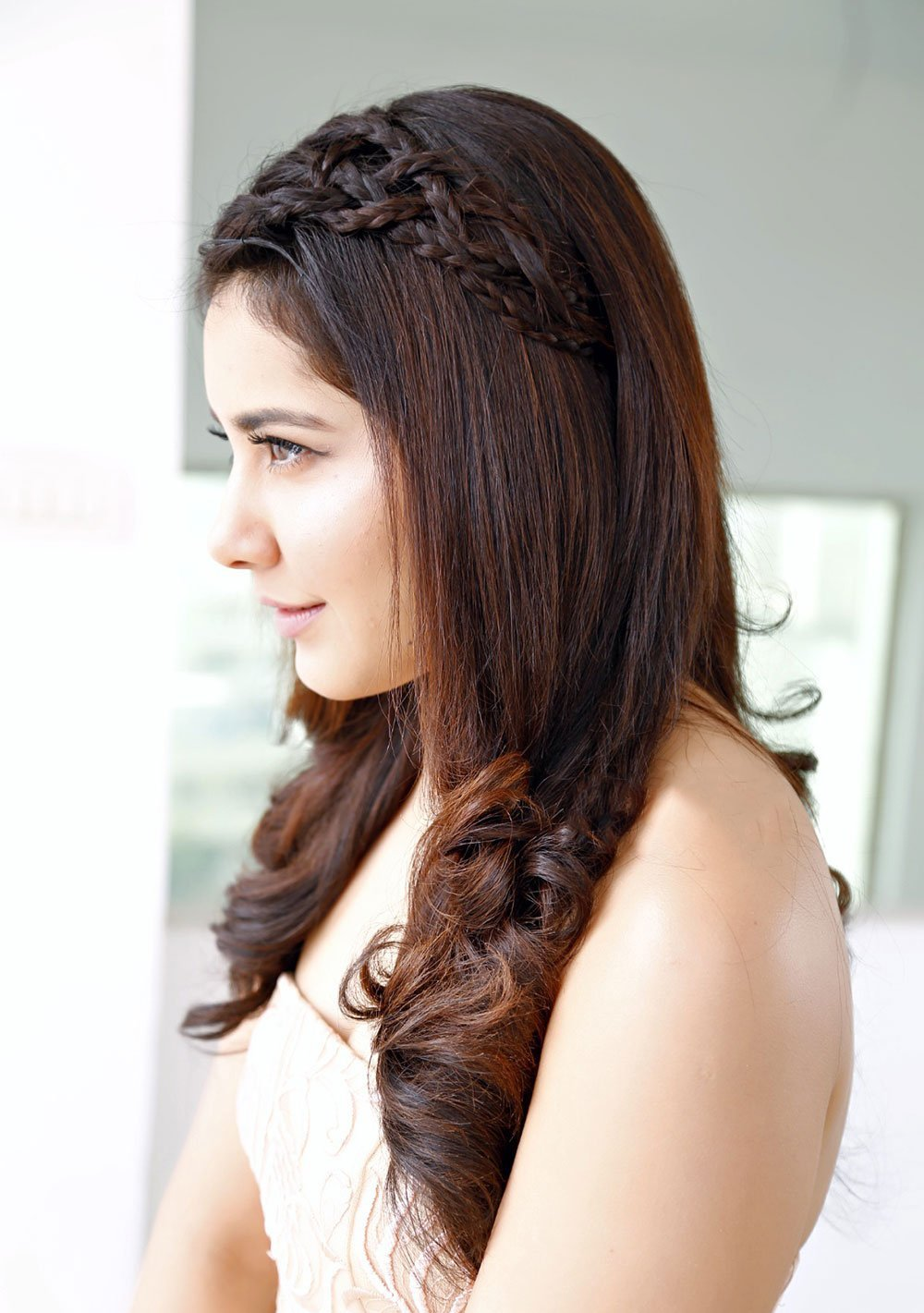 Rashi Khanna Long Hair Style Closeup Face Stills