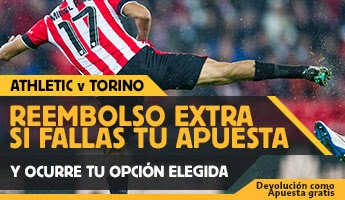 betfair reembolso 25 euros Athletic vs Torino 26 febrero