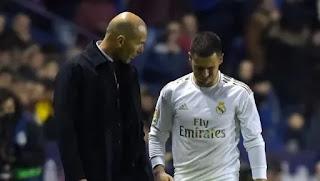 زيدان يتحدث عن انتهاء موسم هازارد مع ريال مدريد