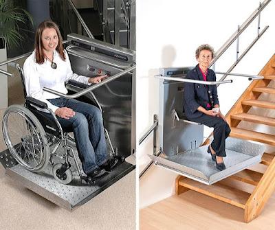 Platforma schodowa z krzesełkiem dla seniora