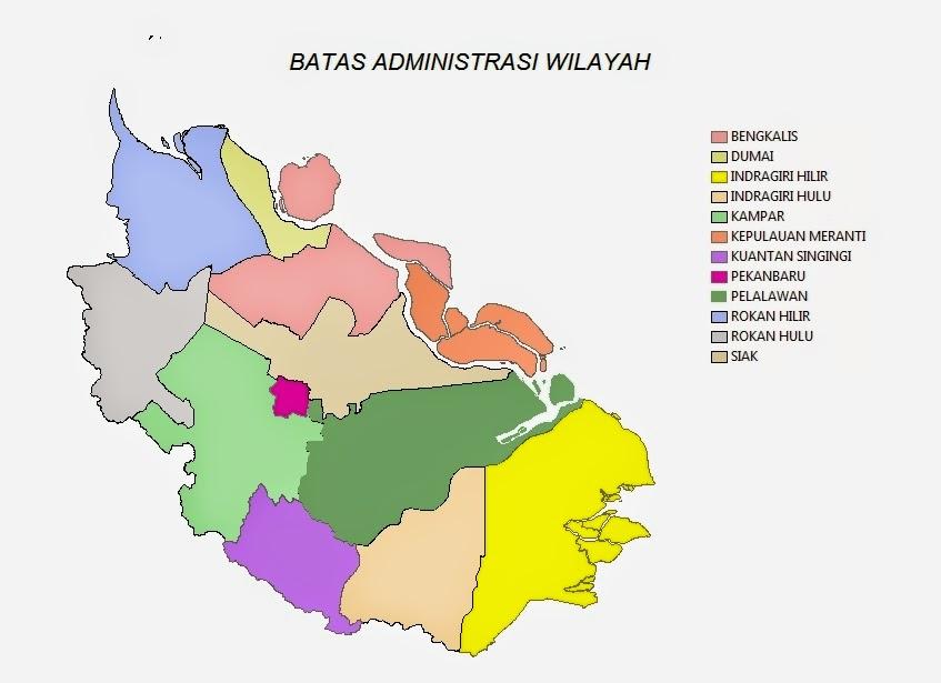 Peta Batas Wilayah Kabupaten/kota Provinsi Riau *.shp | Ukur