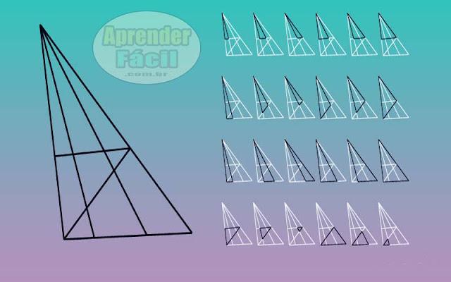 Quantos triângulos você vê na imagem? Resposta!