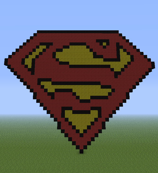 Minecraft Pixel Art Helper Superman Logo
