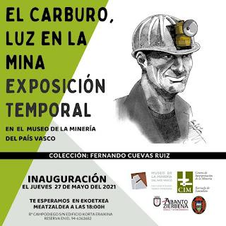 """Exposición temporal """"El carburo, luz en la mina"""" en el Museo de la Minería del País Vasco"""