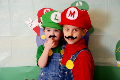 Mario Luigi party costumes birthday