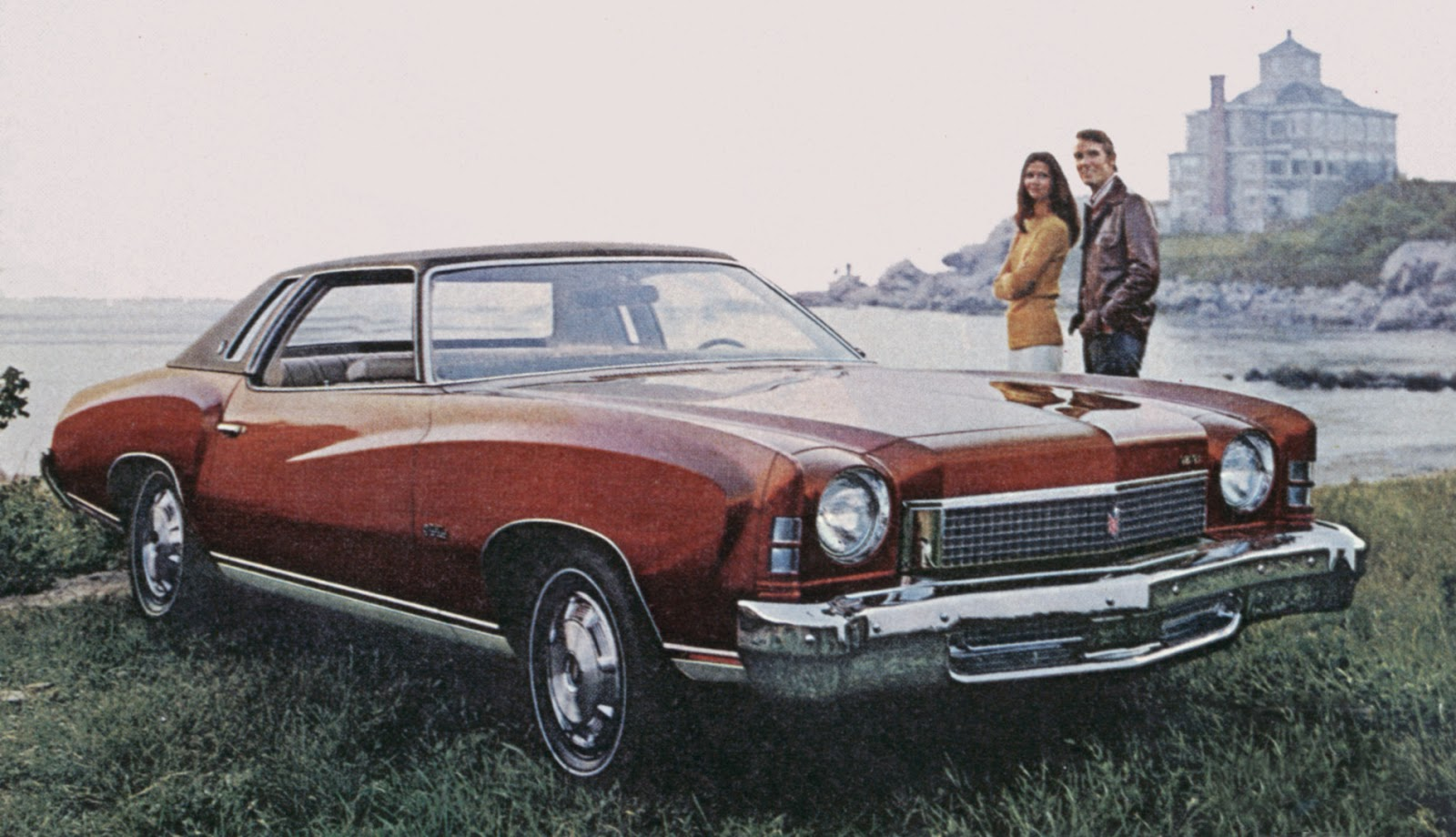 in 1973 monte carlo gained its own identity with sculpted fenders and elaborate grilles  [ 1600 x 920 Pixel ]