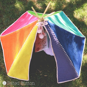 Toddler Teepee Crochet Pattern by Susan Carlson of Felted Button