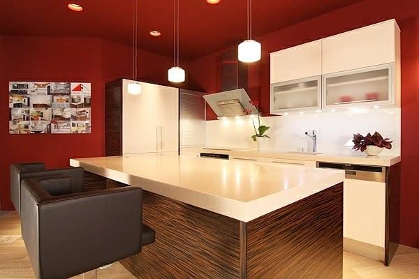Cocinas de color rojo colores en casa - Colores paredes cocina ...