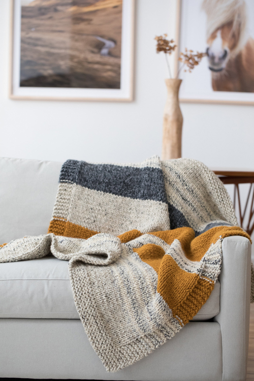 Simple Striped Afghan - Free Knitting Pattern