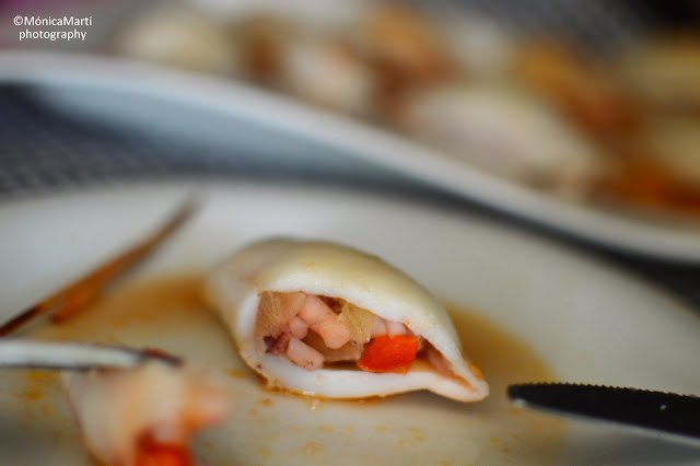 Calamares Rellenos Asados En El Horno, Bajos En Calorias