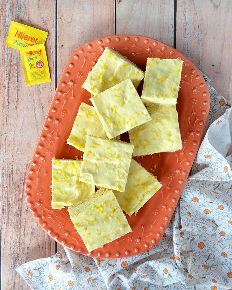 Cuadrados de limón sin azúcar
