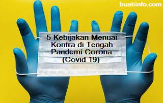 Buat Info - 5 Kebijakan Menuai Kontra di Tengah Pandemi Corona (Covid 19)