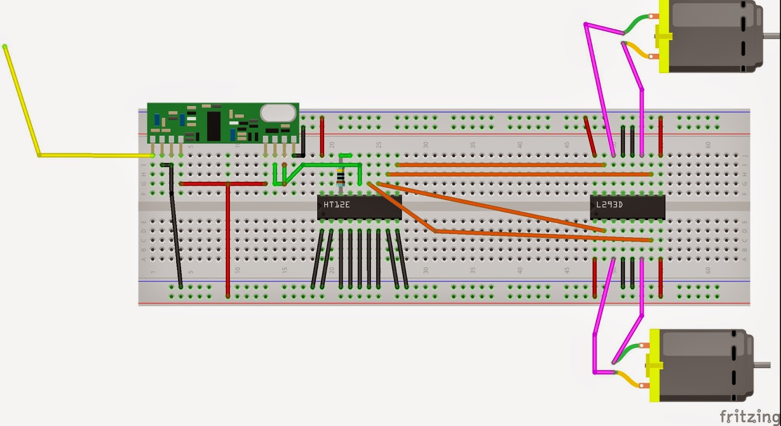 COURSE ON ARDUNIO: RF control Wireless Robot Using Labview