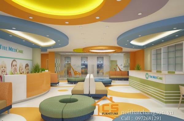 Thi công nội thất phòng khám nhi Medcare 2