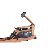 Adjustable tablet arm & tablet holder on WaterRower Performance Ergometer in Oak Wood with SmartRow, image