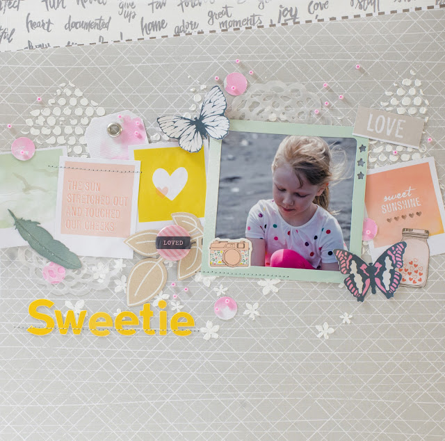 Layout for 123 Get Scrappy December '14: Sweetie