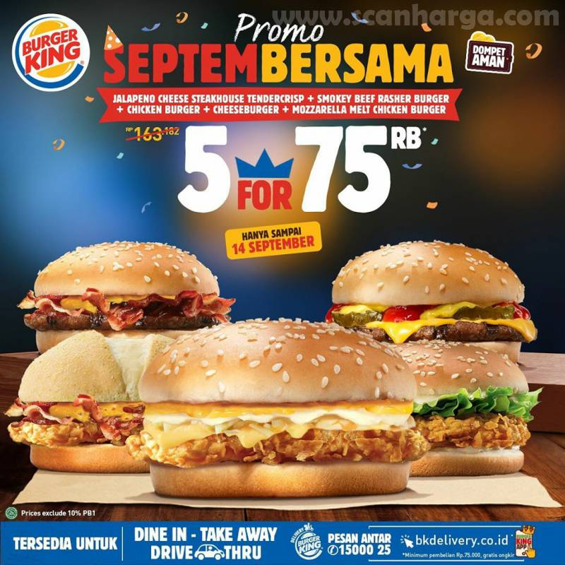 Promo Burger King SEPTEMBERSAMA Terbaru 8 - 14 September 2020