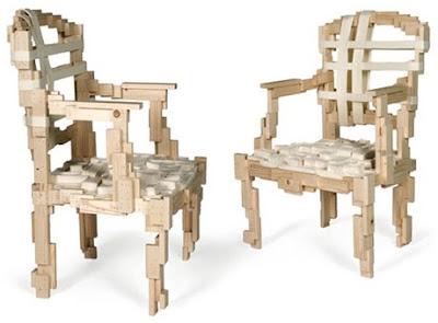 diseño de silla con madera