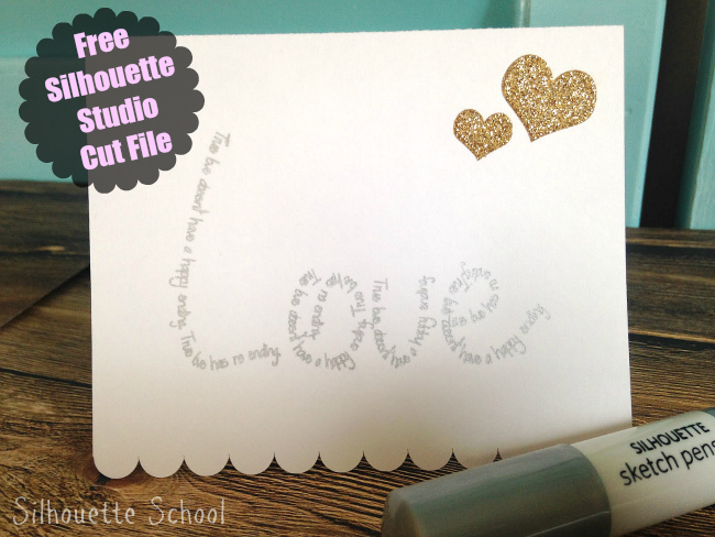 Silhouette Studio, free cut file, love quote