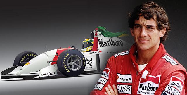 Foto Ayrton Senna juara formula 1