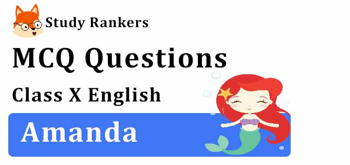 MCQ Questions for Class 10 English: Amanda First Flight