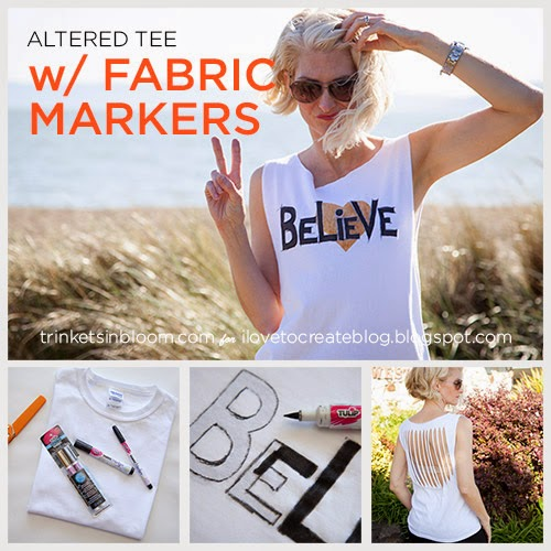 88cca5c86 iLoveToCreate Blog: Believe Altered T-Shirt DIY