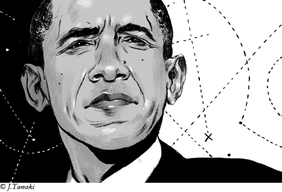 Barack Obama by Jillian Tamaki