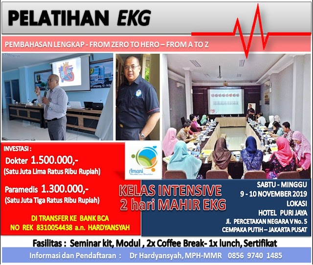 *LEARNING EKG*  *FROM ZERO to HERO, FROM A to Z* 9-10 November 2019