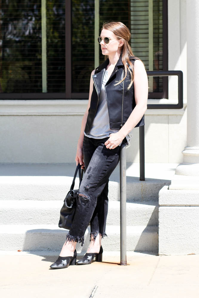 How to style a leather vest