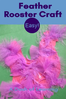Easy Feather Rooster Craft
