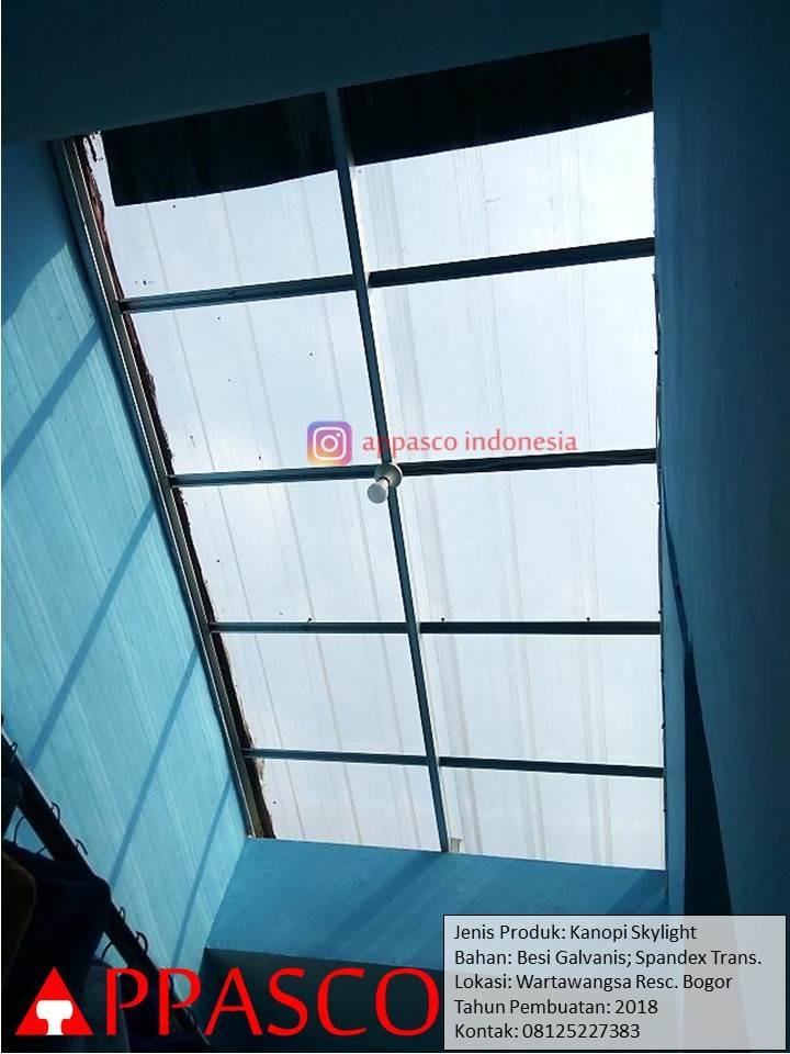 Kanopi Skylight Spandek Transparan di Wartawangsa Bogor