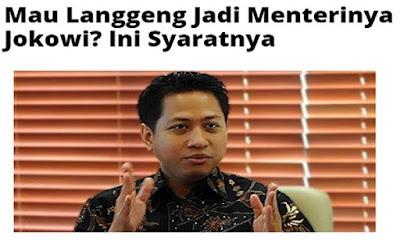 Kiat Langgeng Jadi Menteri Jokowi: Iyain aja biar seneng, Jangan lebih terkenal, Hubungan luas dengan penyandang dana