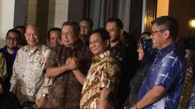 Targetkan Menang Pilpres, Prabowo-SBY Salam Komando!