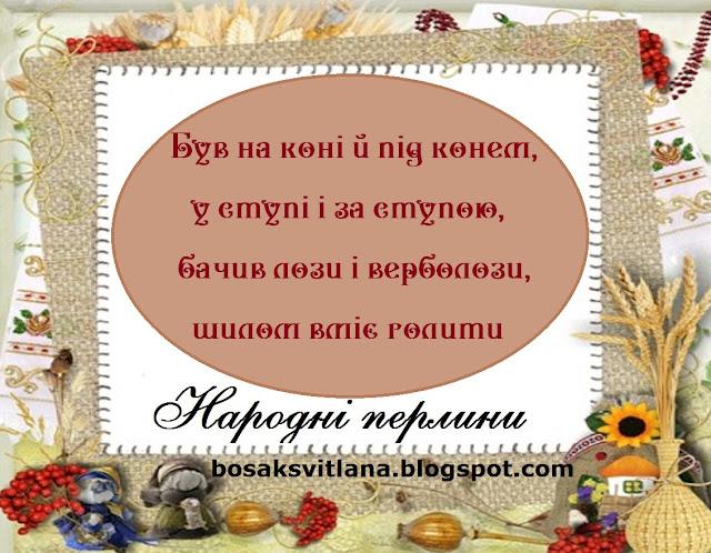 Українські прислів'я. Був на коні і під конем