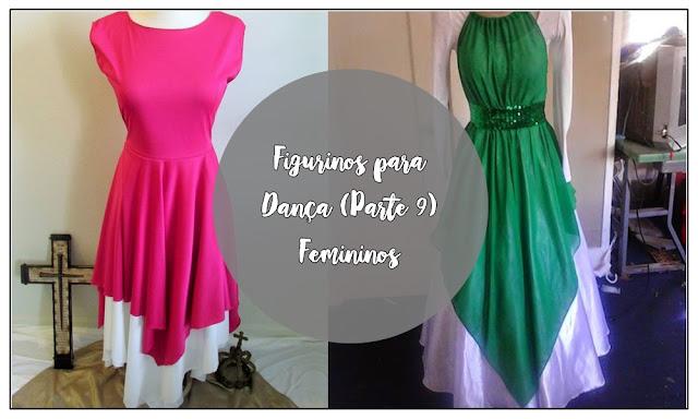 Figurinos para Dança (Parte 9) - Femininos, Vestes ministeriais femininas, figurinos para dança, figurinos de dança para mulheres,