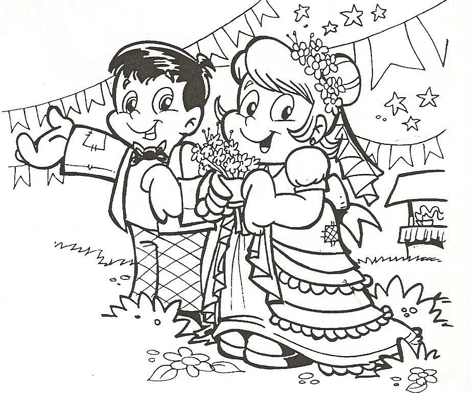 Desenhos De Festa Junina Para Colorir Pintar Imprimir Festa