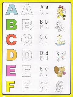 Alfabeto colorido para imprimir