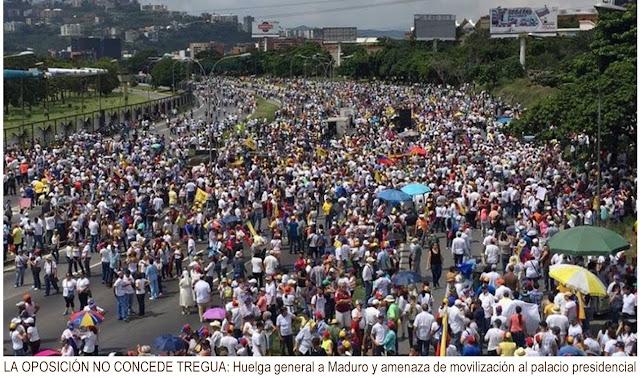 Movilización pacífica hacia el Palacio de Miraflores de no activarse el revocatorio 2016