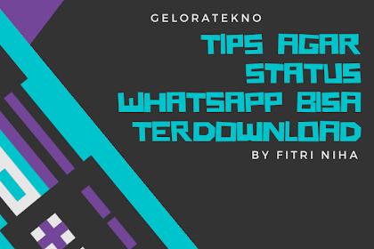Tips agar Status WhatsApp bisa Terdonwload