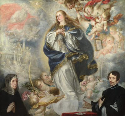 La Inmaculada Concepcion con dos donantes - Juan de Valdés Leal - 1661 - National Gallery Londres