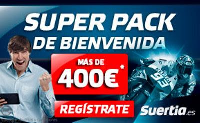 suertia super pack de bienvenida 400 euros