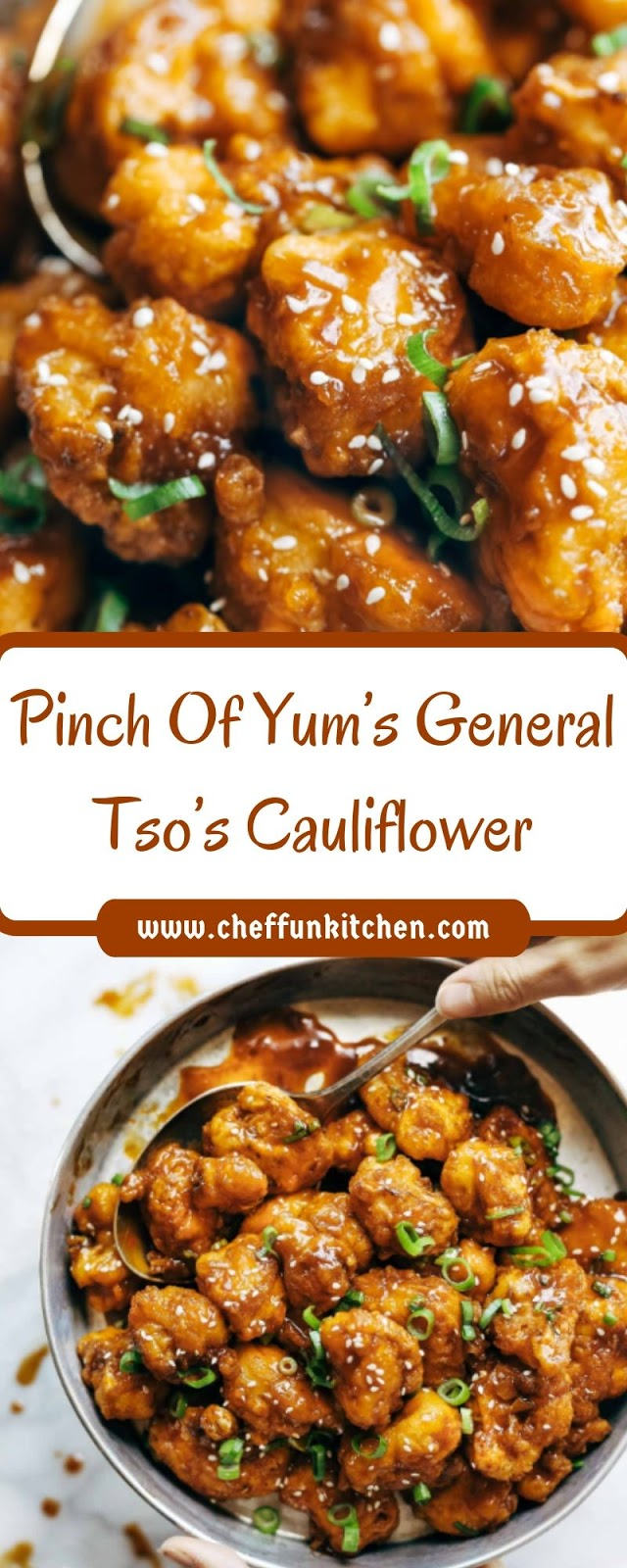 Pinch Of Yum's General Tso's Cauliflower