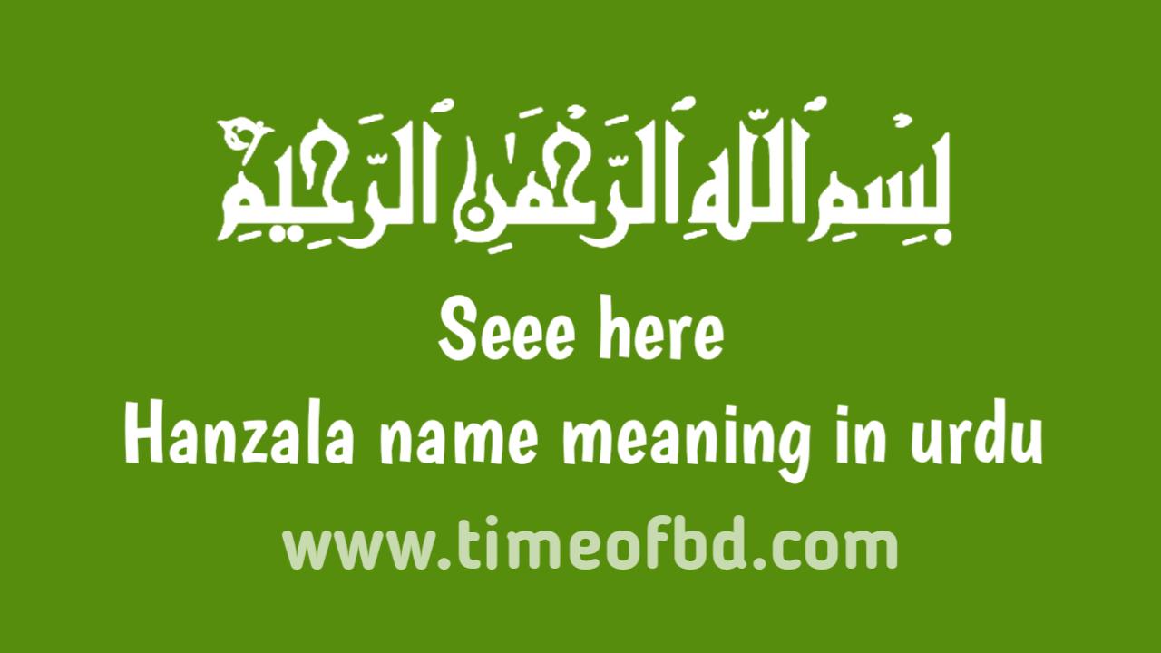 Hanzala name meaning in urdu, حنظلہ نام کا مطلب اردو میں ہے