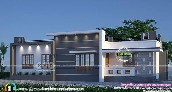 1245 sq-ft 3 bedroom flat roof one floor home
