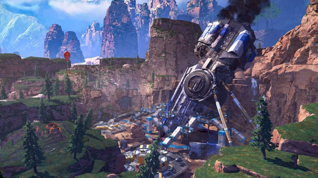 The crashed ship causes changes in King's Canyon.