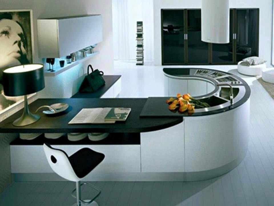 Charmant Curved Kitchen Countertop Designs For Modern House