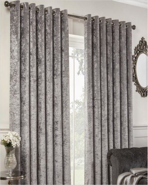 light grey crushed velvet thermal curtains the range