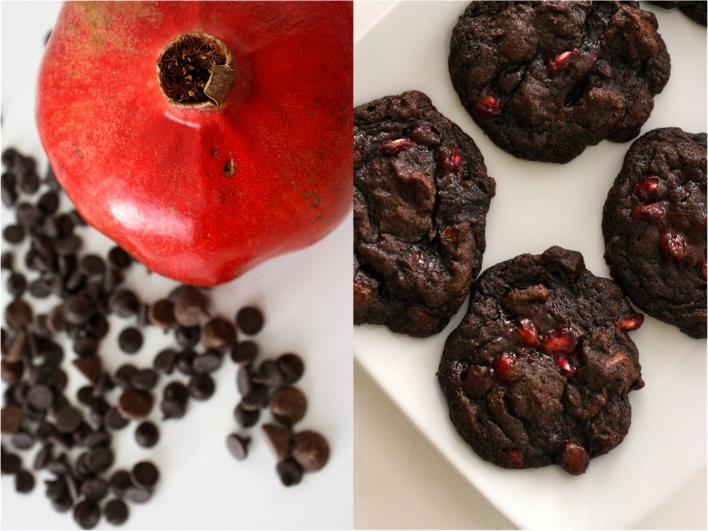 Double Dark Chocolate Pomegranate Cookies Made Everyday