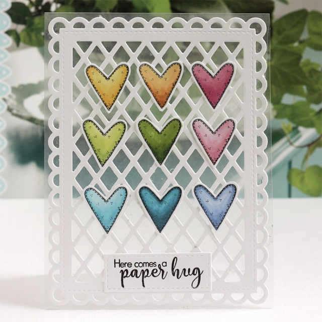 Sunny Studio Stamps: Frilly Frame Dies Customer Card by Karin Akesdotter