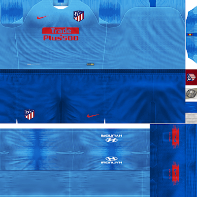 PES 6 Kits Atlético Madrid Season 2018/2019 by FacaA/Ngel